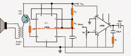 small resolution of class d amplifier circuit using ic 555 homemade circuit projects circuit using ne555 audio amplifier schematic circuits picture