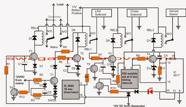 Solar Battery Charger Wiring Diagram Free Picture 2 Simple Automatic Transfer Switch Ats Circuits