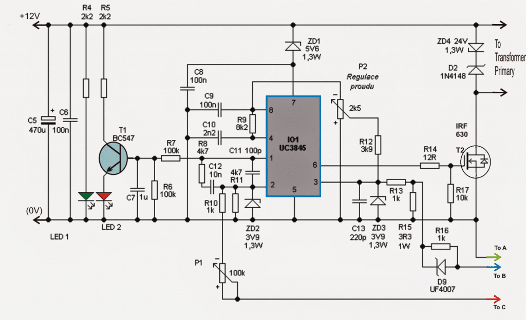 supply pv inverter circuit diagram