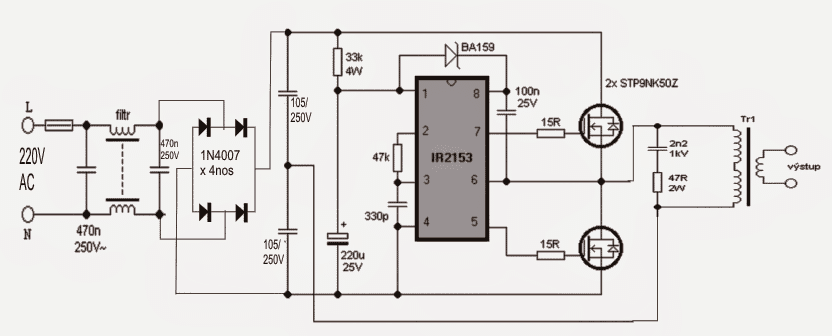 SMPS Halogen Lamp Transformer Circuit