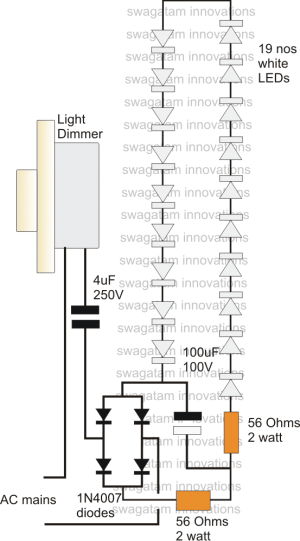 High Current Transformerless Power Supply Using Dimmer Switch