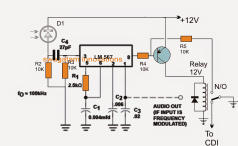 Infrared Remote Control Security Lock Circuit