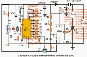 Remote Controlled Fan Regulator Circuit