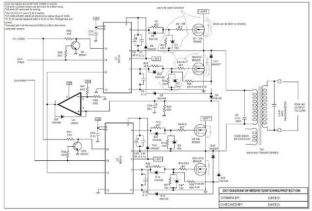Sinewave UPS Circuit using PIC16F72 Part-1