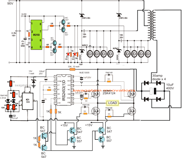 welding generator wiring diagram 2005 ford escape exhaust pwm sinewave 5kva inverter circuit