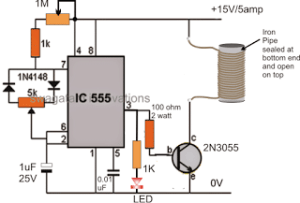 Small Induction Heater Circuit for School Project
