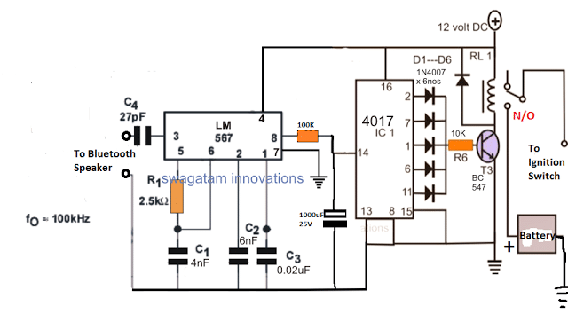 Electronic Car Ignition Circuit