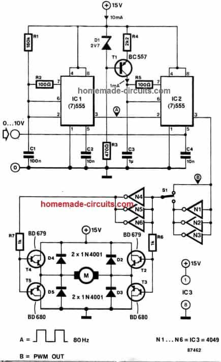 2 Simple Bidirectional Motor Controller Circuits Explored