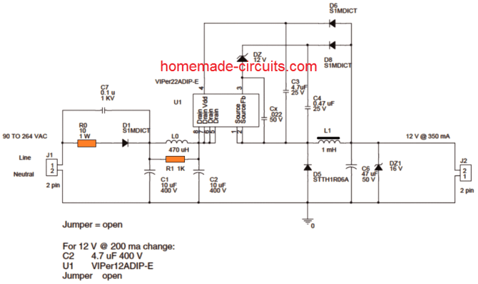 5 easy 1 watt led driver circuits  homemade circuit projects