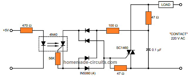 Solid State Relay Circuit using Triacs and Zero Crossing
