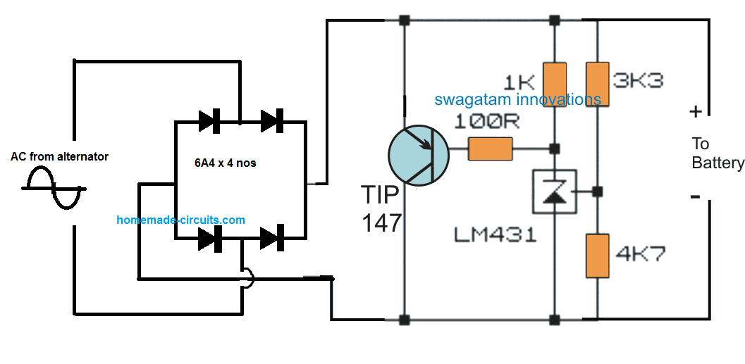 Motorcycle Mosfet Full Wave Shunt Regulator Circuit