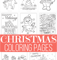 100 Best Christmas Coloring Pages   Free Printable PDFs [ 1620 x 1080 Pixel ]