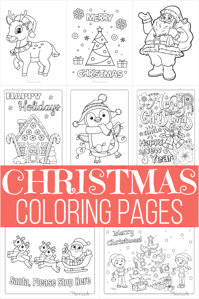 14 Best Christmas Coloring Pages  Free Printable PDFs