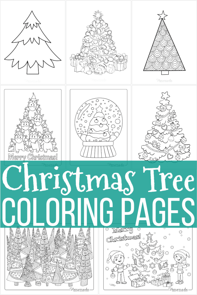 22 Best Christmas Tree Coloring Pages for Kids  Free Printable PDFs