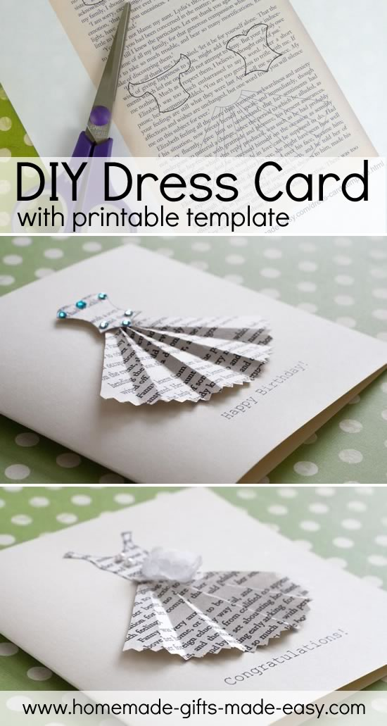 Book Print Dress Card Template