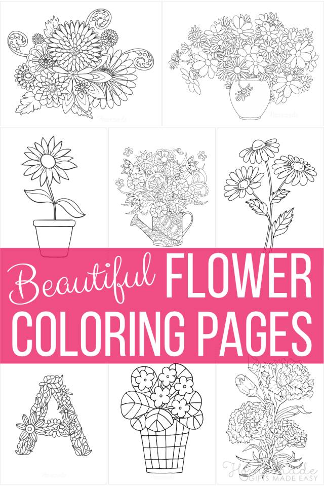 20 Beautiful Flower Coloring Pages  Free Printables for Kids