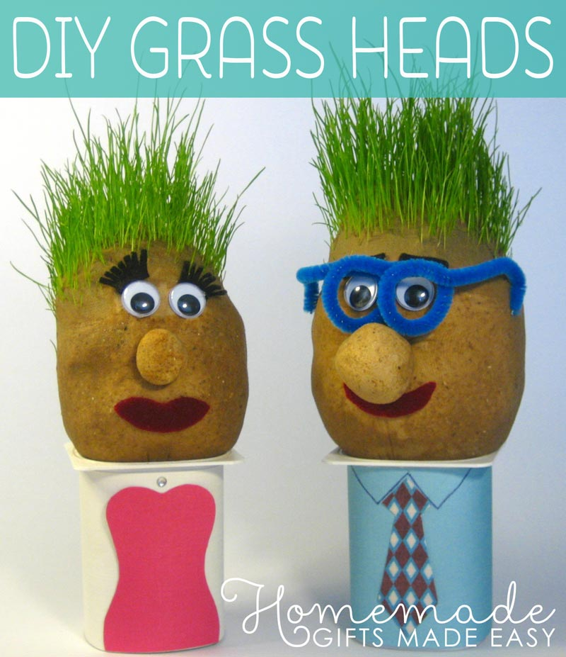 Cutest grass heads step step instructions make, i love my dad coloring pages