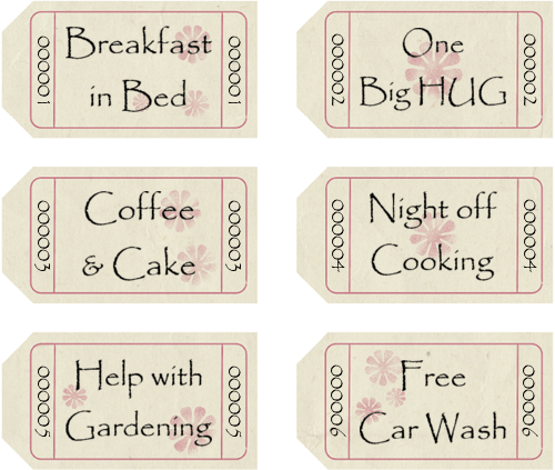 Mothers Day Coupon Booklets To Personalize And Print
