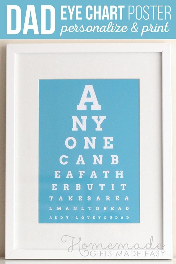 diy eye chart personalized