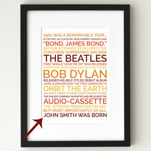 Personalized Poster Retirement Gift