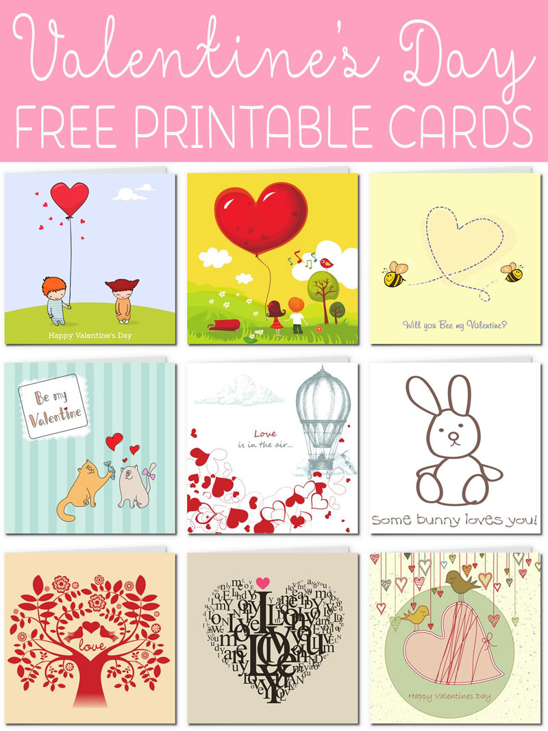 free printable valentine cards