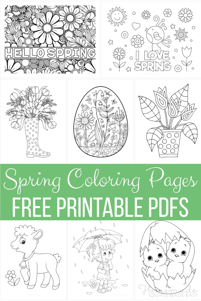 21+ Spring Coloring Pages  Free Printable PDFs