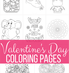 50 Free Printable Valentine's Day Coloring Pages [ 1619 x 1080 Pixel ]