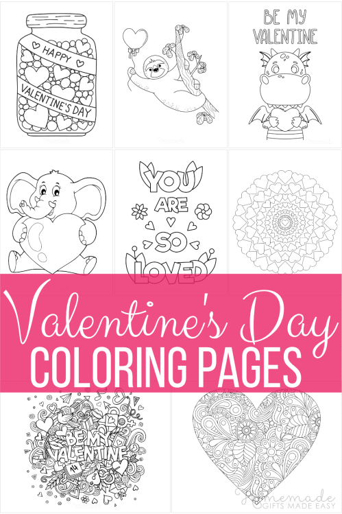 small resolution of 50 Free Printable Valentine's Day Coloring Pages