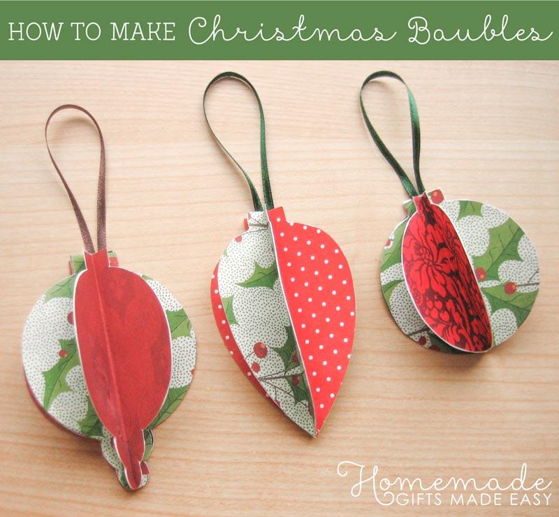homemade christmas ornaments to