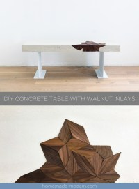 73+ Concrete Coffee Table With Wood Inlay - Work Shop ...
