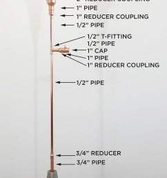 this diy copper lamp was made out of copper pipes from home depot for more [ 1630 x 3411 Pixel ]
