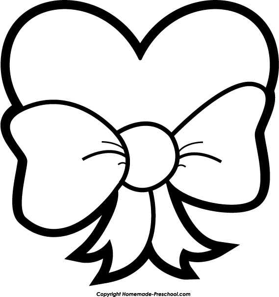 Free Coloring Pages Of Bow Easy