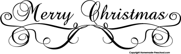 merry christmas fancy clipart
