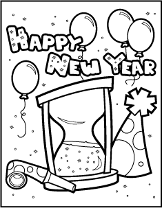happy new year coloring pages preschool