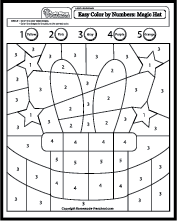Color by Shapes Easy Coloring Pages