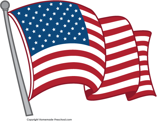 free american flags clipart