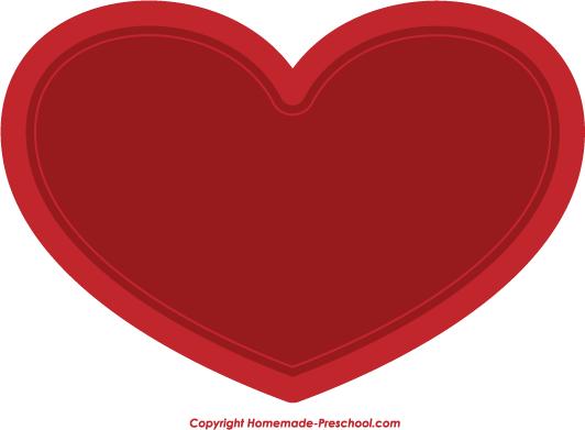 Border Word Art Heart Clip