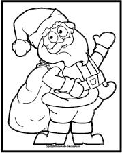 Coloring Santa and Bag