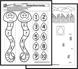 growing worms counting