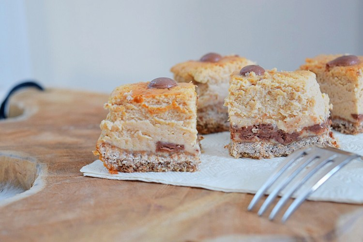 Gezonde Cheesecake bars