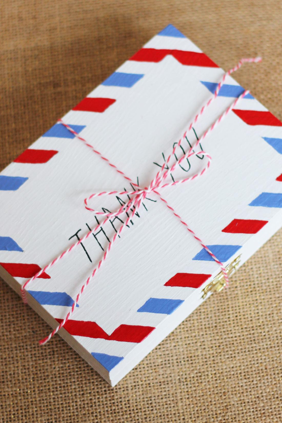diy airmail envelope keepsake