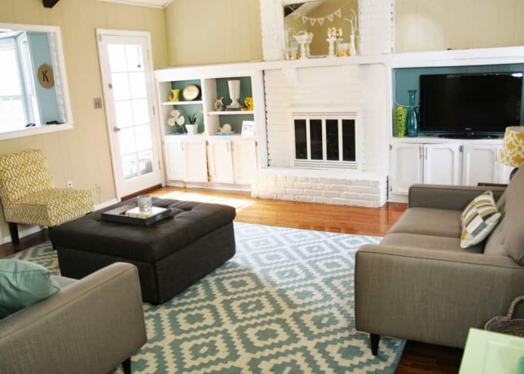Drastic Living Room Makeover  Homemade Ginger