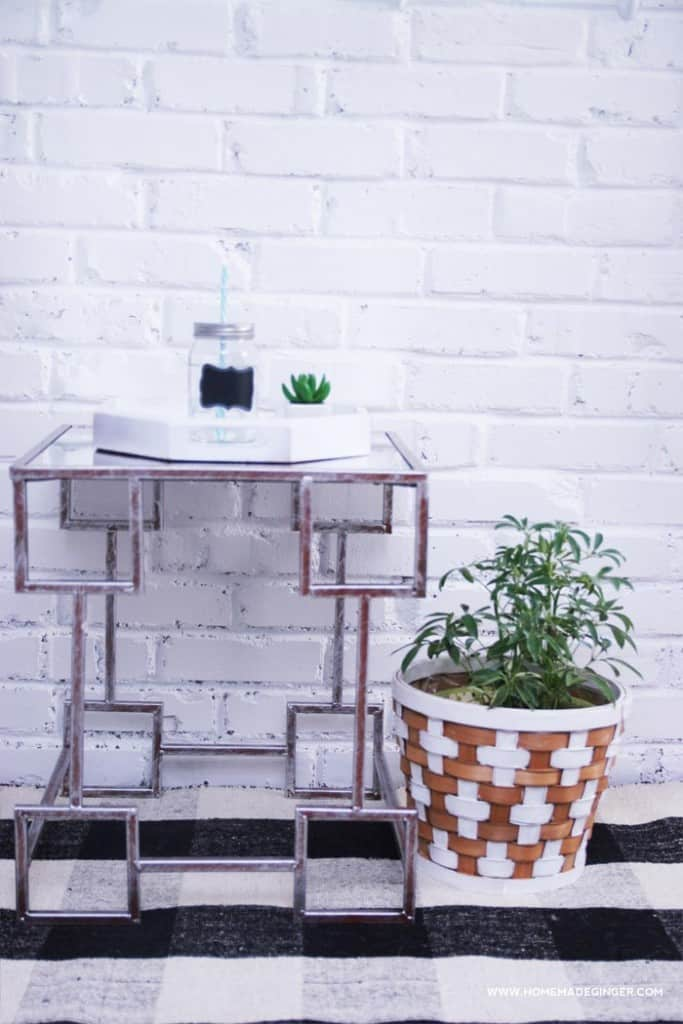 Learn how to style an end table using thrifted finds!
