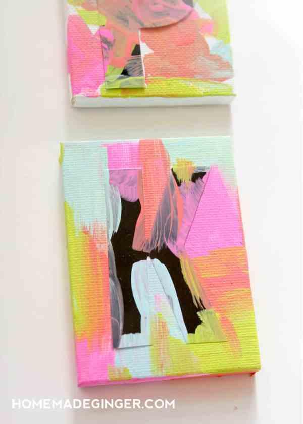 Mini Canvas Art Ideas for Kids