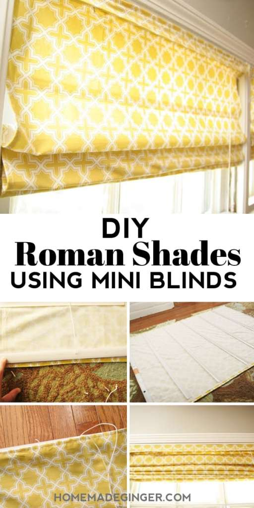 Learn how to make roman shades with mini blinds in just a few easy steps. These roman shades are inexpensive to make and can be totally customizable!