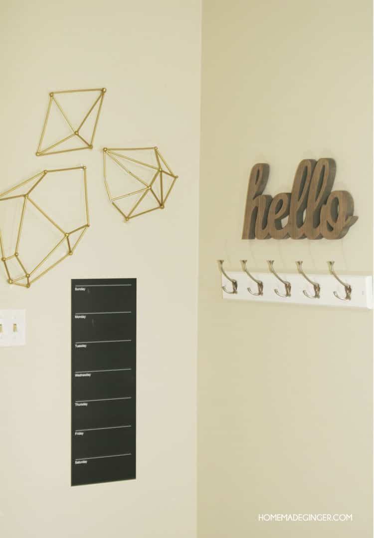 Make some DIY wall art using straws to form modern geometric shapes. Great party decor or for a kids room too!