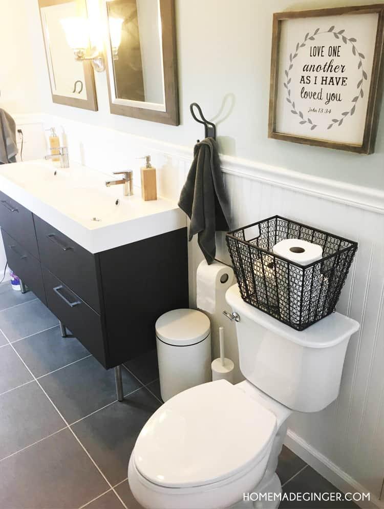 diy bathroom on a budget - homemade ginger