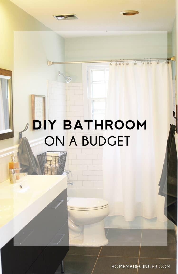 DIY Bathroom On A Budget