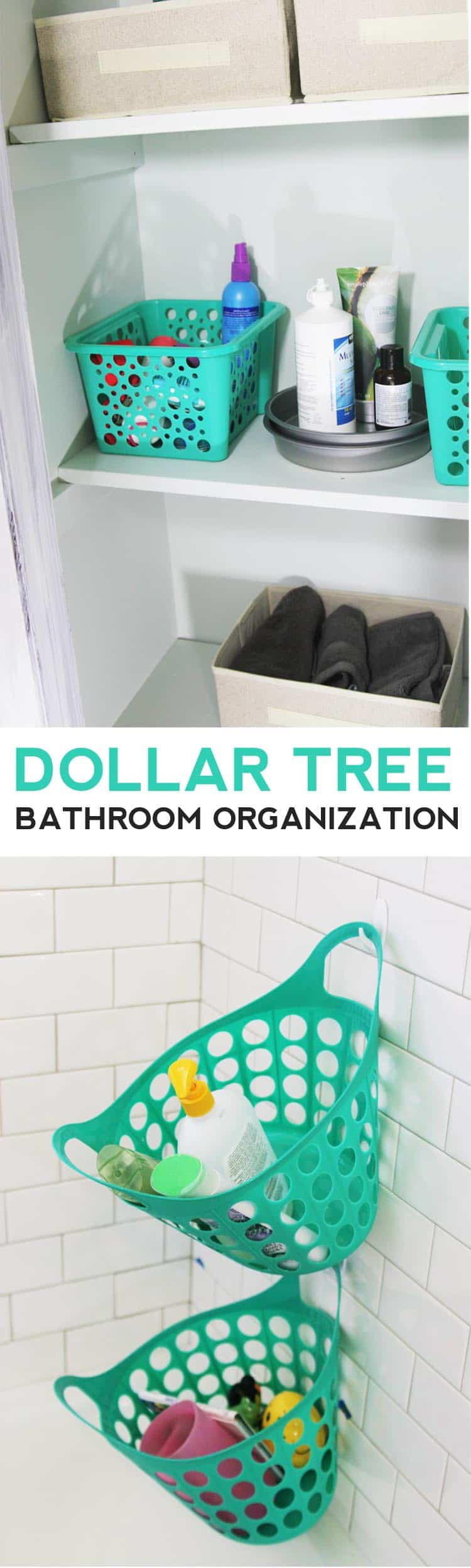 Completely organize your bathroom with stuff from Dollar Tree! This is the best post for bathroom organization tips on a budget!