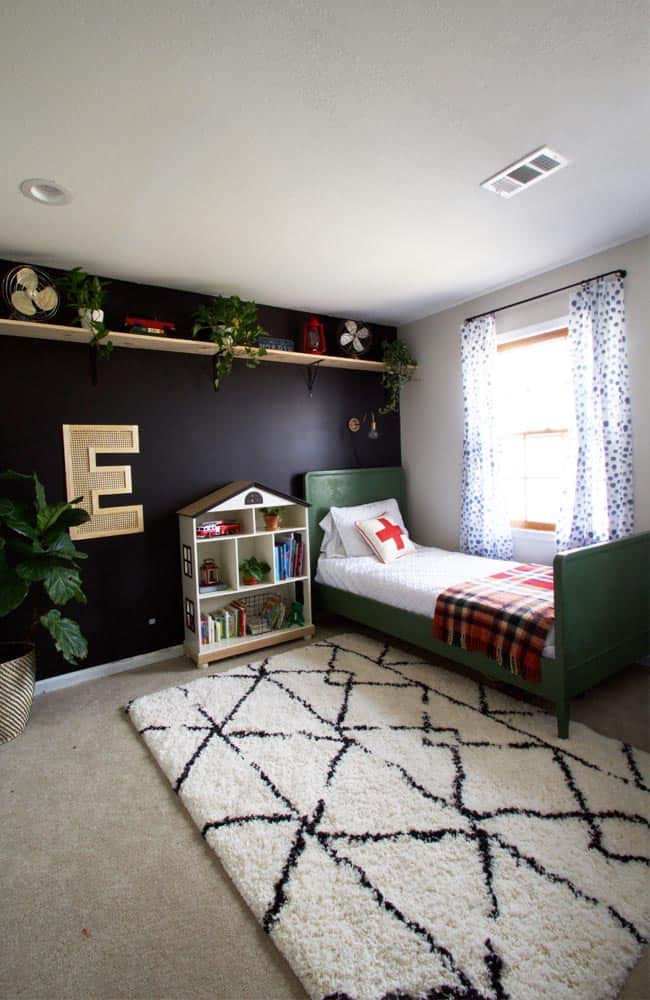 This modern toddler bedroom reveal is full of vintage finds and DIY projects to give it character. This post is full of sources and ideas just for you!